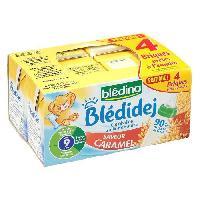 Franprix - Lait Et Cereales BLEDINA Blédidej Céréales au lait de suite saveur caramel - 4 x 250 ml - Des 9 mois