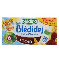 Franprix - Lait Et Cereales BLEDINA Bledidej Lait et Céréales Cacao 4x250 ml - Des 6 mois