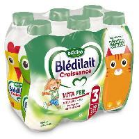 Franprix - Lait Et Cereales BLEDINA Blédilait Croissance 3eme âge - 6x1 L - De 10 mois a 3 ans