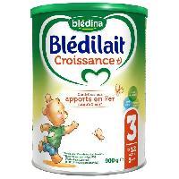 Franprix - Lait Et Cereales BLEDINA Blédilait Lait en Poudre Croissance +) - 3eme âge 12 mois a 3 ans - 900 g - Bledilait