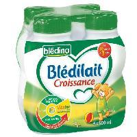 Franprix - Lait Et Cereales BLEDINA Blédilait lait de croissance 3eme age - 4x500 ml - De 10 mois a 3 ans