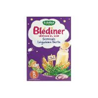 Franprix - Lait Et Cereales BLEDINA Blédîner Céréales du soir Semoule Légumes verts - 240 g - Des 8 mois