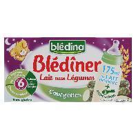 Franprix - Lait Et Cereales BLEDINA Blédîner Lait aux légumes Courgettes - 2x250 ml - Des 6 mois