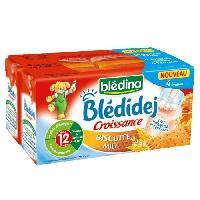 Franprix - Lait Et Cereales Biscuit Bledidej Croissance Biscuite Miel - 4 x 250ml