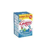 Franprix - Lait Et Cereales GUIGOZ Lait en poudre de croissance 3eme âge - Bag In Box - 2x500 g + 1 mesurette - De 1 a 3 ans