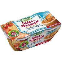 Franprix - Repas De Bebe Les idees de Maman Tomate boulghour saumon du Pacifique - 2x200 g - Des 12 mois