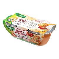 Franprix - Repas De Bebe Lot de 2 plats cuisines- Legumes provencales et poulet Des 8 mois 2 x 200 gr