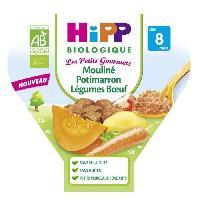 Franprix - Repas De Bebe Mouline de potimaron aux legumes et au boeuf assiette - 200g - 8 mois