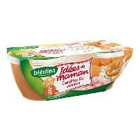 Franprix - Repas De Bebe Petits pots carottes riz jambon - 8 mois - 2 x 200g