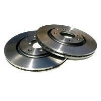 Freinage Jeu de 2 disques de freins Bolk - D266mm 4 trous pour Citroen Peugeot - MID