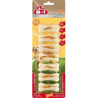 Friandise 8IN1 Friandise os a macher ferme Delight - Garni de viande de poulet - Pour chien - 7 pieces
