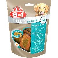 Friandise 8in1 Filets de poulet séchés Pro Breath enrichis en menthe et persil - Taille S - Pour Chien