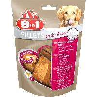 Friandise 8in1 Filets de poulet séchés Pro Skin&Coat enrichis en huile de graine de lin - Taille S - Pour Chien