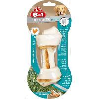 Friandise 8in1 Os a mâcher au poulet Dental Delights - Taille M - Pour chien