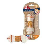 Friandise 8in1 Triple Flavour Os a macher Premium S aux Boeuf. Porc. Poulet - Pour chien de petite taille - 1 piece