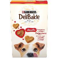 Friandise DELIBAKIE Biscuits en forme de coeurs - Au gout de poulet et boeuf - Pour chien - 350 g