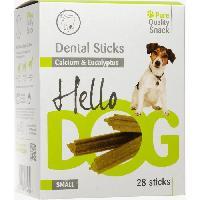 Friandise HELLODOG Bâtonnets a mâcher DentalStick Eucalyptus/Calcium. 28 Pieces - Pour Chien Adulte - 400g (x1) - Aime