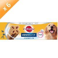 Friandise PEDIGREE Dentastix Advanced Oral Care - Friandises - Pour chien adulte de grande taille - 120 g -x6-