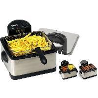 Friteuse Electrique DF402B Maxi friteuse 4.5L - 3 paniers interchangeables - Inox