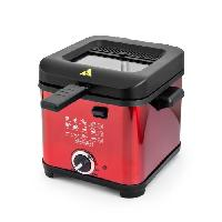 Friteuse Electrique KITCHENCOOK - FR1010_RED - Friteuse - 900W - 1.5L - Rouge - Kitchen Cook