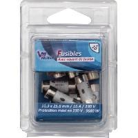 Fusible Pack 10 Fusibles avec voyant de fusion 10.3 x 25.8 mm - 16 A - 230 V
