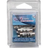 Fusible VOLTMAN Pack 10 Fusibles avec voyant de fusion 8.5 x 31.5 mm - 20 A - 230 V