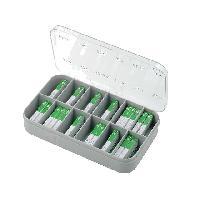 Fusibles pour auto Verre Kit 200x fusibles 5x20mm - 100mA6.3A - temporise - ADNAuto