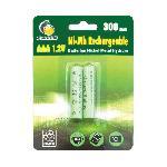 GALIX Lot de 2 piles rechargeables LR03-AAA - Ni-Mh - 1.2 Volts - 300 mAh
