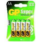 GP Batteries 4 Piles AA - LR06 - Super Alcaline