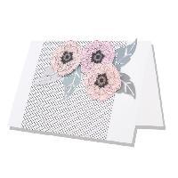 Gabarit De Decoupe 2 Matrices de decoupe Framelits - Avec tampons - Fleur Traditionnelle