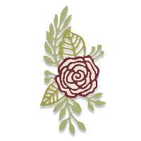 Gabarit De Decoupe 2 Matrices de decoupe Thinlits - Motif de rose par Debi Potter