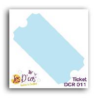 Gabarit De Decoupe Die Ticket