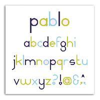 Gabarit De Decoupe LES D'COS DE TOGA Pack de 8 Dies Alphabet Pablo