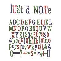Gabarit De Decoupe Matrice de decoupe Thinlits Set 79 pieces - Juste Une Remarque Alphabet par Jen Long