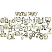 Gabarit De Decoupe SIZZIX Matrice de decoupe Bigz XL Alphabet - Jeu de Mot de Tim Holtz