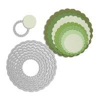Gabarit De Decoupe SIZZIX Matrice de decoupe Framelits Set 8 pieces - Cercles-Festons