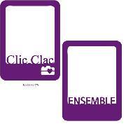 Gabarit De Decoupe TOGA Dies 2 Cartes Ensemble et Clic Clac - 7.6 x 10.2 cm