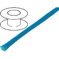 Gaine pour cables 100m gaine polyester tresse 37 4mm bleu