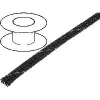 Gaine pour cables 100m gaine polyester tresse 37 4mm gris fonce