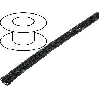 Gaine pour cables 100m gaine polyester tresse 37 4mm gris fonce - ADNAuto