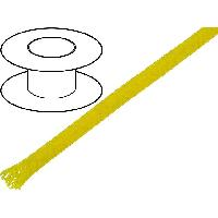 Gaine pour cables 100m gaine polyester tresse 37 4mm jaune - ADNAuto