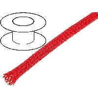 Gaine pour cables 100m gaine polyester tresse 37 4mm rouge - ADNAuto