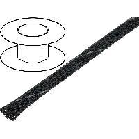 Gaine pour cables 100m gaine polyester tresse 49 5mm gris fonce