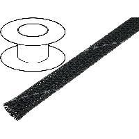 Gaine pour cables 100m gaine polyester tresse 713 8mm gris fonce