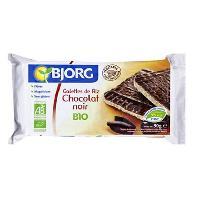 Galettes Riz - Mais - Ble Galettes riz chocolat noir bio 100 g Bjorg
