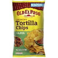 Galettes Riz - Mais - Ble OLD EL PASO Tortilla Crunchy Chips Fajita - 185 g