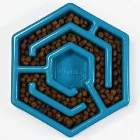 Gamelle - Ecuelle - Accessoire AIKIOU Hexa Bol ralentisseur - Bleu - Pour chien
