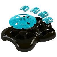 Gamelle - Ecuelle - Accessoire AIKIOU Paw Gamelle interactive - Marron et bleu - Pour chien