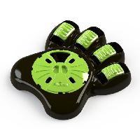 Gamelle - Ecuelle - Accessoire AIKIOU Paw Gamelle interactive - Marron et vert - Pour chien
