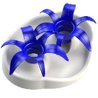Gamelle - Ecuelle - Accessoire AIKIOU Thin Kat Flower Gamelle interactive - Blanc et bleu - Pour chien